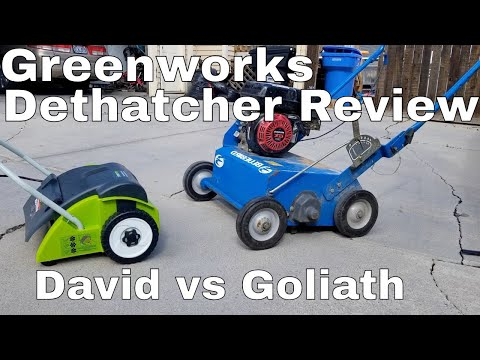 Greenworks 14-Inch Dethatcher Review .  Greenworks Dethatcher Vs Bluebird Power Rake