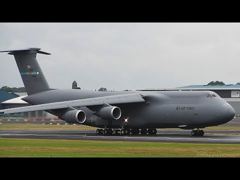 Two US Air Force (USAF) C-5M Super...