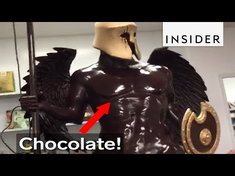 Incredible Chocolate Winged Centaur and Pegasus Sculpture