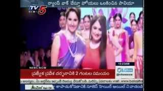 sania mirza attracts with ramp walk jewellery week tv5 news