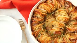 Join Sarah Carey as she makes a beautiful layered Crispy Potato Roast that's flavored simply with red pepper flakes, shallots, and fresh thyme. It's the perfect ...