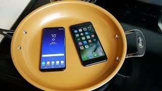 Video Samsung Galaxy S8+ vs iPhone 7 Plus Boiling Hot Water Test MP3, 3GP, MP4, WEBM, AVI, FLV Oktober 2017