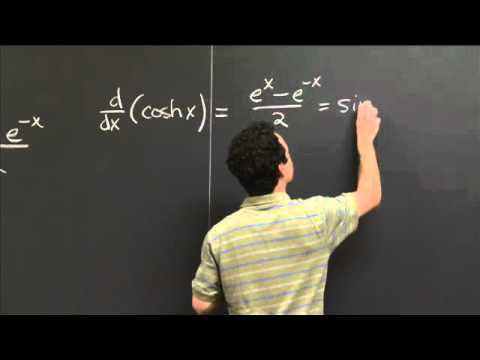 Hyperbolic trig functions | MIT 18.01SC Single Variable Calculus, Fall 2010