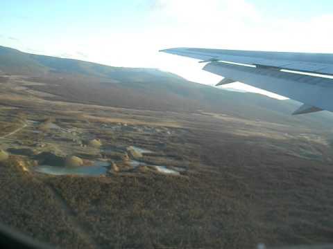 Magadan, Russia: Aeroflot Boeing 767 Take-Off Roll, Rotation, Climb-Out (видео)