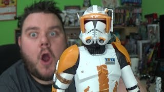 """Star Wars Clone Commander Cody Black Series 6 Inch Action Figure Review - Commander Cody (Revenge Of The Sith - The Black Series 6"""", 2015) Re-create your favorite Star Wars Rebels adventures with this realistic Clone Commander Cody figure! This detailed figure looks just like Clone Commander Cody, and he has the armor and blaster for his next attack on the Empire. Your collection – and your adventures – won't be complete without him! Clone troopers are genetically modified humans cloned from bounty hunter Jango Fett. Under the command of the Jedi Order, clone troopers fight for the Galactic Republic during the Clone Wars, which takes its name from the troopers. At the end of the Wars, they are forced by a surgically implanted inhibitor chip to carry out Order 66 and slaughter the Jedi. After the conversion of the Republic into the Galactic Empire, clone troopers become known as the stormtroopers and are eventually phased out in favor of recruits. Please Subscribe and Support the channel!! https://www.youtube.com/channel/UC23U4jpP2BAw8uxaH4Zwh8g?sub_confirmation=1 Fan Mail *********SUPER SORRELL, PO Box 267, Pontefract, WF8 8DHMy Links*********Business Enquiries: Supersorrell@live.co.ukInstagram: https://www.instagram.com/supersorrellTwitter: https://twitter.com/supersorrellFacebook Page: https://www.facebook.com/supersorrell Website: http://www.supersorrell.co.ukAbout Me********Hey guys its me your host SUPERSORRELL and this is my channel, I am an action figure toy collector and enthusiast. I am an out of box collector and my channel tagline is """"i unbox it, so you dont have to"""" I like to collect action figures from my favourite franchises including STAR WARS, DC COMICS & MARVEL but from time to time expect some awesome throwbacks to my child hood favourite movies from the 70s-90s including NECA products like Alien Predator, Last Action Hero, Terminator, Rocky, Planet Of The Apes, Transformers, Teenage Mutant Ninja Turtles, Ghostbusters, Friday 13th & Nightmare On El"""