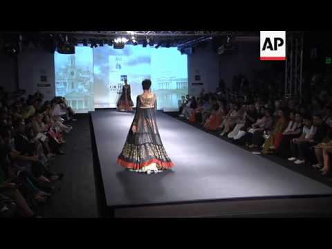 Madhuri Dixit takes the catwalk at Delhi Fashion Week