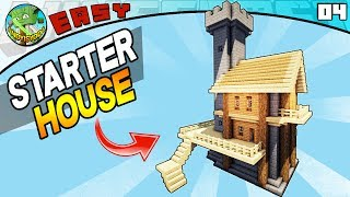 SIMPLE STARTER HOUSE (Minecraft EASY Build #4)