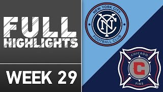 HIGHLIGHTS:  New York City FC 4-1 Chicago Fire by Major League Soccer