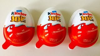 3 Kinder Joy Surprise Eggs
