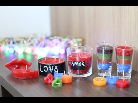 Velas coloridas aromatizadas