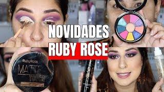 MAQUIAGEM COM AS NOVIDADES DA RUBY ROSE