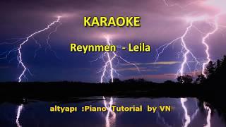 Reynmen - Leila [ KARAOKE ] Şarkı Sözleri