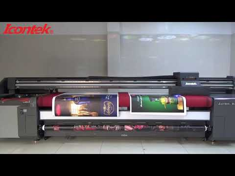 Double roll body sticker UV printing solution