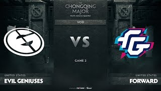 Evil Geniuses vs Forward Gaming, Game 2, NA Qualifiers The Chongqing Major