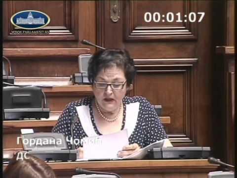Гордана Чомић о амандманима на Предлог закона о превозу путника у друмском саобраћају