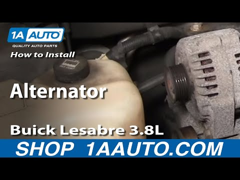 How To Install Repair Replace Alternator Buick Lesabre 3.8L 00-05 1AAuto.com
