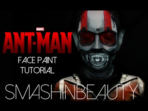 Ant-Man Marvel Halloween Face Paint Tutorial