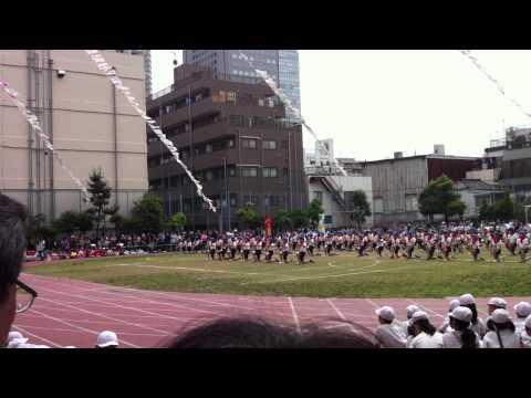 墨田区立柳島小学校運動会 マーチングドリル
