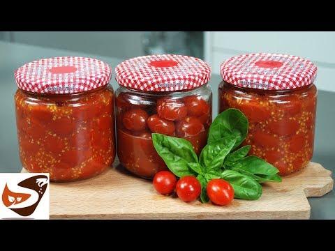 Pomodorini sotto vetro al naturale – Conserva di pomodoro veloce fatta in casa