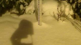 """TimeLapse """"Pahuljica"""" 10-11.03.2010 (Ciklona Vatroslav)"""