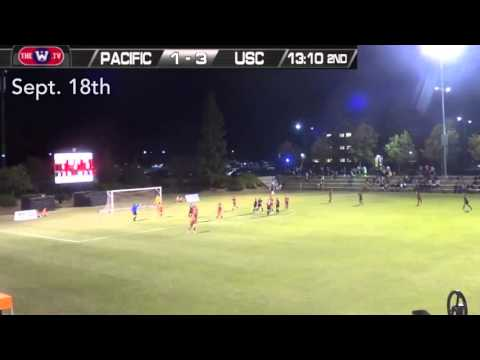 Women's Soccer: Alex Hussar penalty kick goal vs. USC - 9/18/15