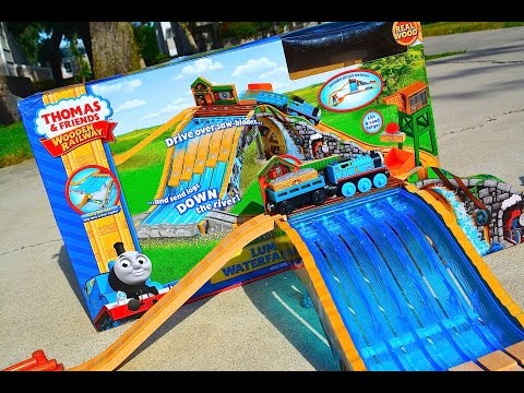 thomas - Jlouvier Presents The Brand New 2014 Thomas The Tank Engine & Friends Wooden Railway Toy Train Set LUMBER YARD WATERFALL ADVENTURE SET By Fisher Price! A Wooden Railway Fisher Price Toy Train...