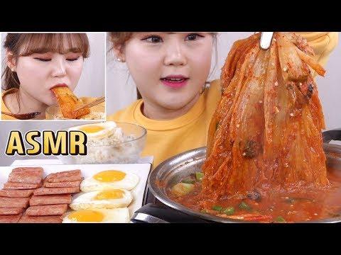 ASMR|참치 김치찌개와 스팸 그리고 계란후라이 먹방! Kimchi Jjigae, Mukbang - Thời lượng: 8 phút, 41 giây.