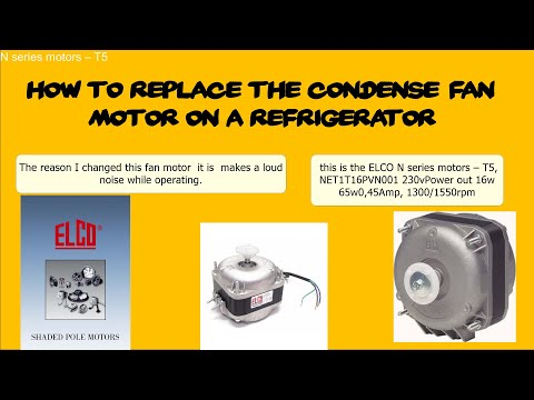 HOW TO REPLACE THE CONDENSER FAN MOTOR ON A COMMERCIAL REFRIGERATOR