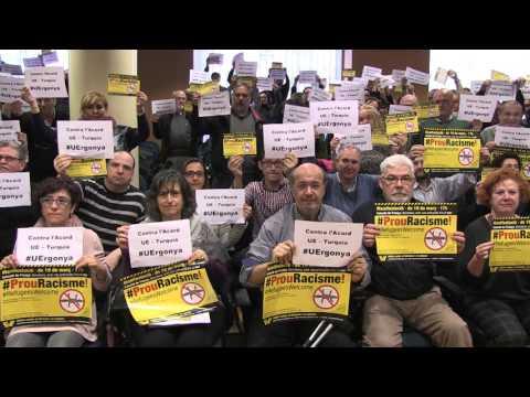 Protesta contra l'acord entre UE i Turquia per la crisi dels refugiats