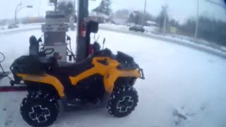 7. 2014 Can Am Outlander Max Xt 650 st laz to rigaud ride Part 1