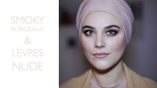 MAKEUP TUTORIAL | smoky bordeaux & lèvres nude