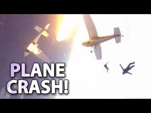 Insane Mid-Air Plane Crash Footage!