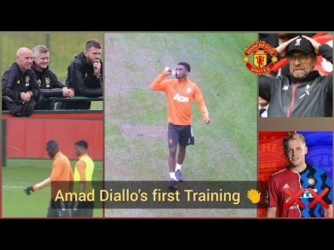 Amad Diallo's first training, Van De Beek transfer update,Jurgen klopp...|Manchester United Camp...