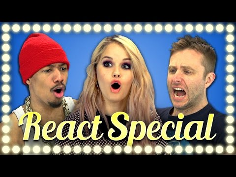 celebrities - EXTRA REACTIONS click here - http://goo.gl/UIIldB NEW Vids Sun, Thur & Sat! Subscribe: http://bit.ly/TheFineBros Please share this video and follow everyone! Subscribe to our REACT channel!...