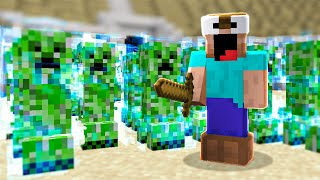 i gave 100 players 1,000 creeper eggs and this happened..