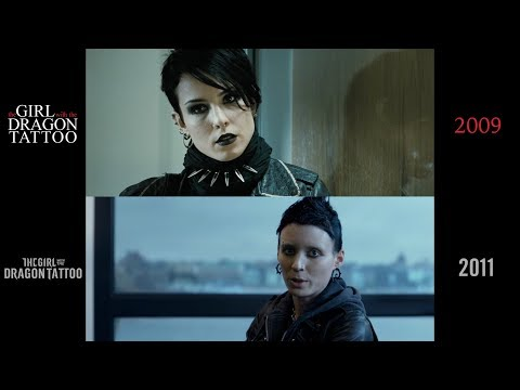 The Girl with the Dragon Tattoo (2009/2011) side-by-side comparison