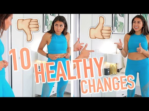 10 HEALTHY FITNESS CHANGES I MADE! Fitness & Health Tips!