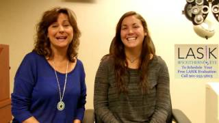 Valerie Holmes 2020 1 Day LASIK Postop comments with Mom Susan Holmes