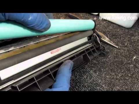 Canon 103/303/703 Инструкция по заправке картриджа. refilling of canon2900 (видео)