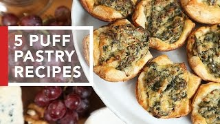 5 Quick & Easy Puff Pastry Appetizers! by The Domestic Geek