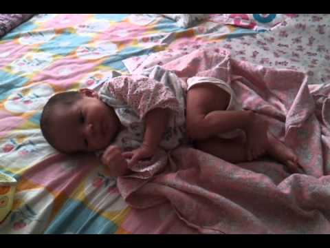kaisayehpyarhai123 - Angad playing alone in the morning on 24th October 2011 - 1 month and 1 day old !!!