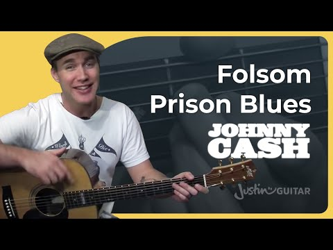 Folsom Prison Blues – Johnny Cash (Easy Songs Beginner Guitar Lesson BS-502) How to play
