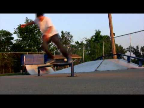 some tricks at the skatepark