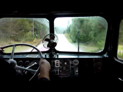 1959 Kenworth 2 stick shifting practice - Part 1