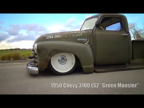 1950 Chevy 3100, Ratrod Patina, Bagged, Air Ride, Ride Tech, LS2