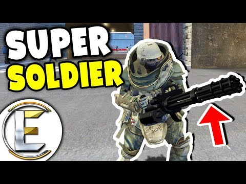 Garrys Mod - OVERPOWERED SWAT SUPER SOLDIER! - Gmod DarkRP Life (OP Upgraded Minigun To Stop Bank Heist)