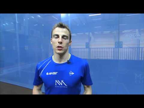Nick Matthew Squash Coaching Tips Part 2 – The Serve