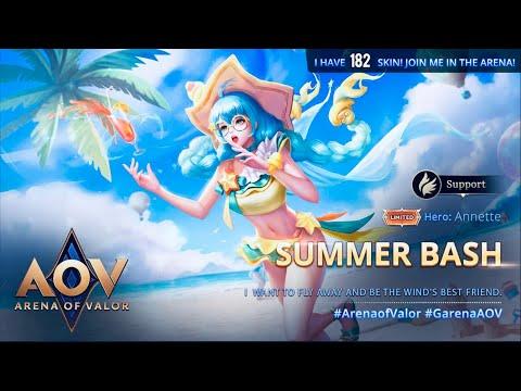 AOV - Arena Of Valor - Annette Summer Bash SKIN gameplay
