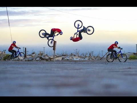 flip - Click to watch Danny MasAskill's Epecuén: http://epecuen.redbull.com/thedocumentary A world first for trial street riding; watch what Danny MacAskill goes th...