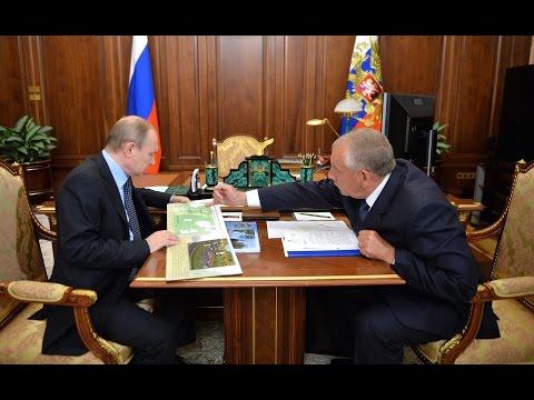В Москве Владимир Путин встретился с губернатором Новгородской области Сергеем Митиным